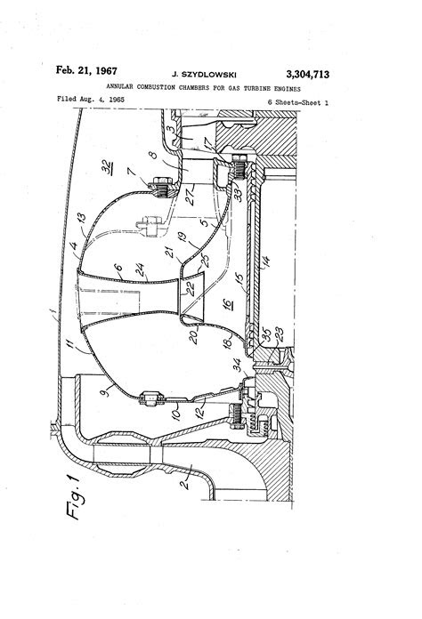 Patent US3304713 - Annular combustion chambers for gas