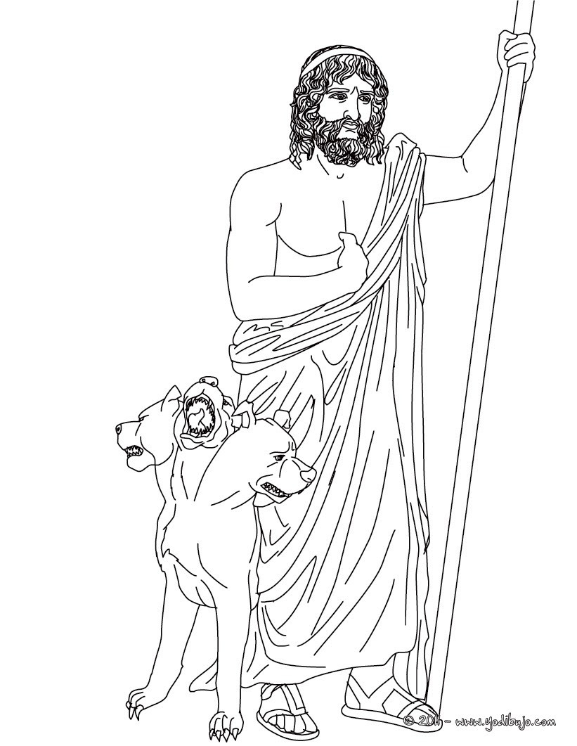 Dibujos Para Colorear Dios Hades Hermano De Zeus Y Dios Griego Del