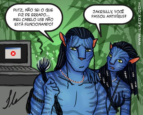 ilustração avatar jack sully com cabelo usb by ila fox