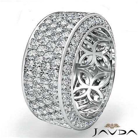 Womens Eternity Diamond 10mm Wedding Anniversary Band Ring