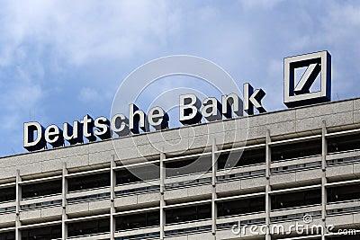 Berlin, Germany. The Deutsche Bank logotype Editorial Stock Image