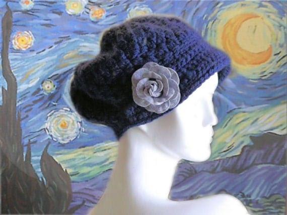 Starry Night Bonnet Crochet Hat Pattern PDF
