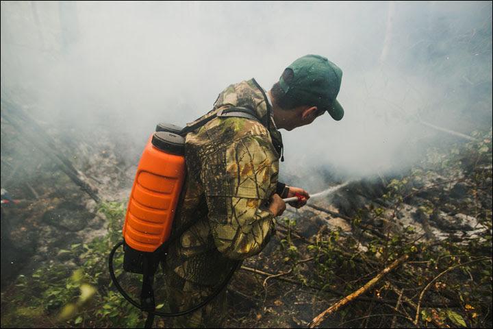 Wildfires on Baikal