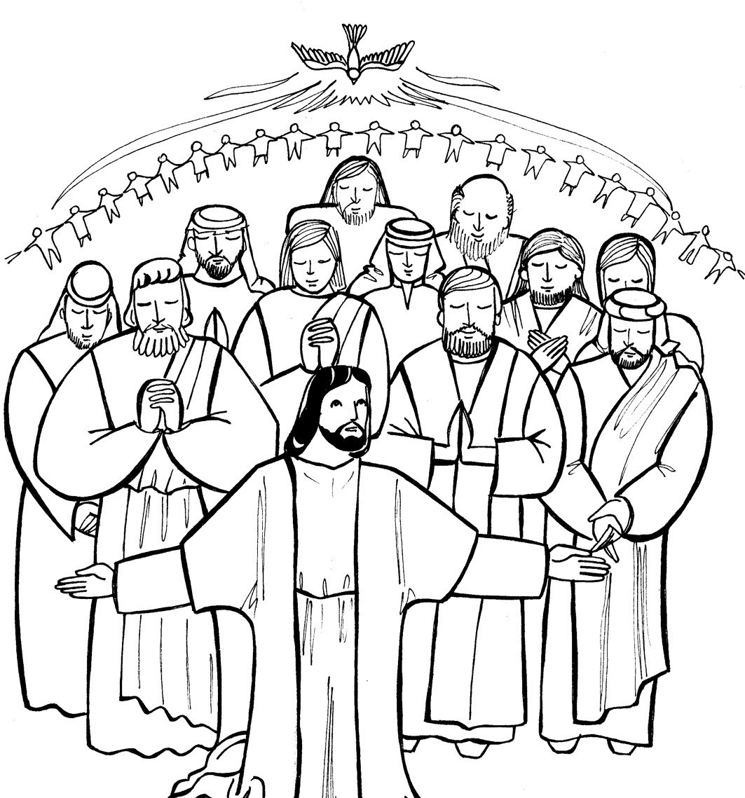 Saints Coloring Pages  Printable Catholic Saints