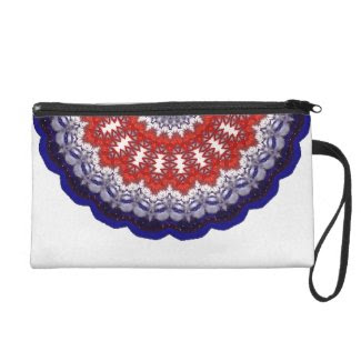 Red, White & Blue Kaleidoscope Art Wristlet