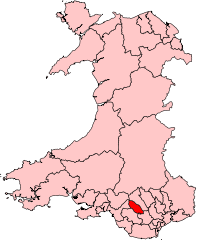 Map showing location of the Rhondda Valley wit...
