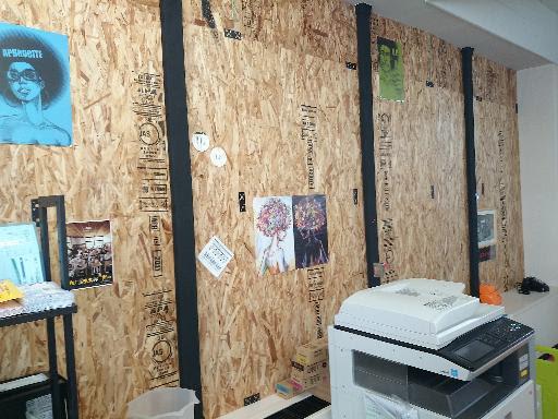 オフィスの造作壁を自分で作っちゃいましょ Osbボード編 オフィス