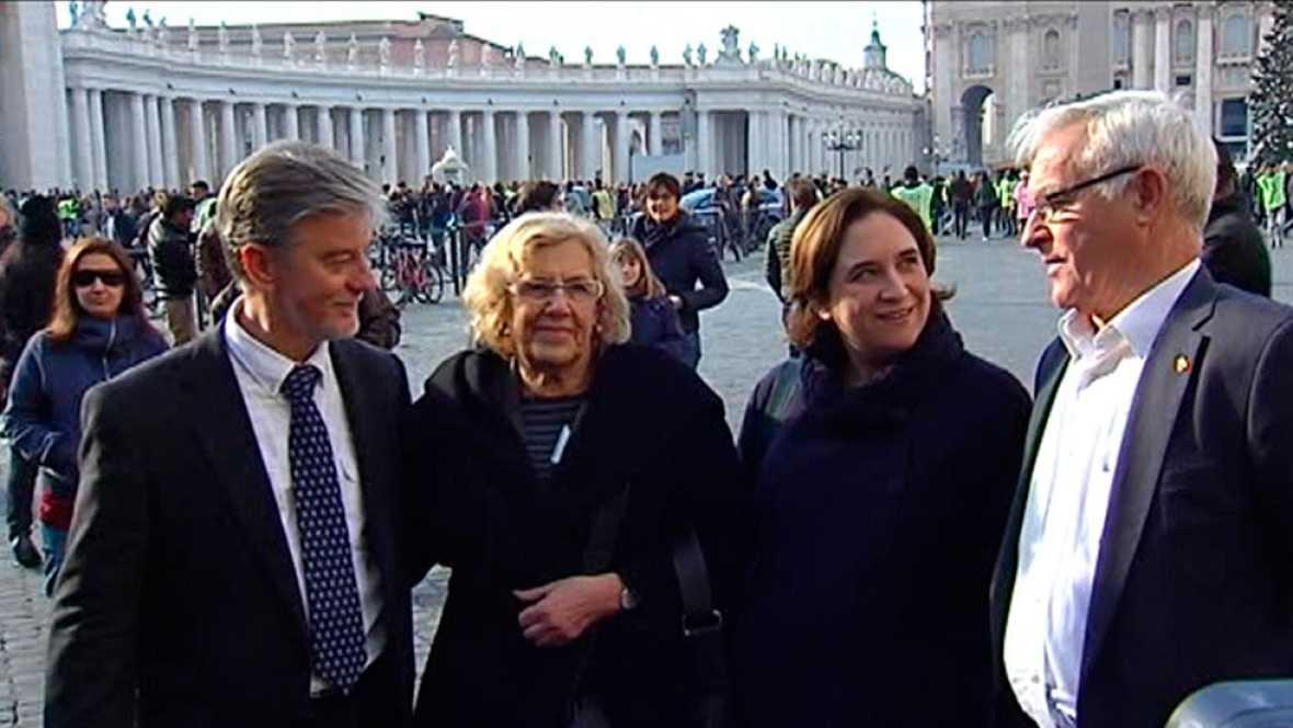 Resultado de imagen de visita roma colau carmena