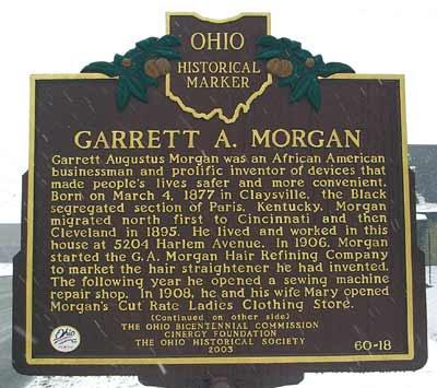 Garret A. Morgan Historical marker