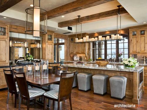 Desain Interior Dapur Dan Ruang Makan Mewah 1