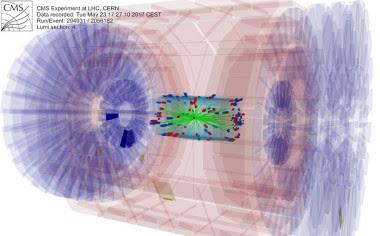 <p>Registro de datos del experimento CMS efectuado este 23 de mayo. / CPAN/CERN</p>