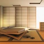 Classic Japanese Bedroom Design Image