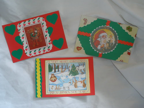 Handmade Christmas Postcards