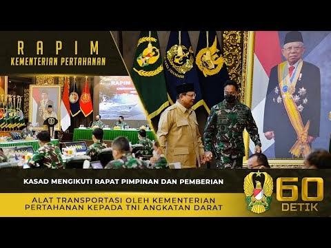Kasad Mengikuti Rapat Pimpinan dan Pemberian Alat Transportasi Dari Kemhan RI kepada TNI AD