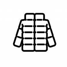 ダウンジャケットシルエット イラストの無料ダウンロードサイト