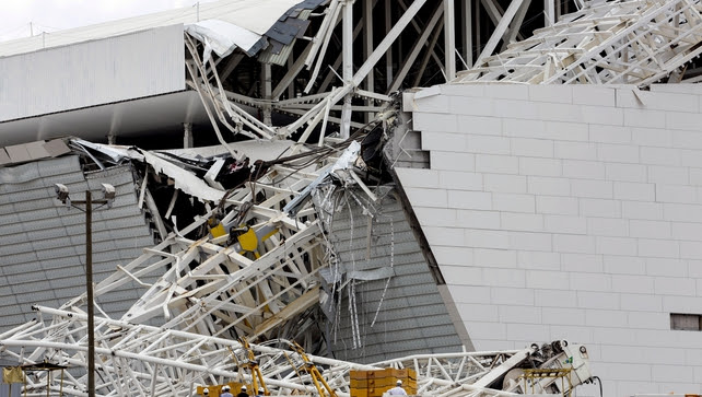 The accident appears to have been caused by the collapse of a crane