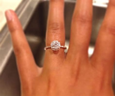 Round halo setting and thin band   Wedding rings