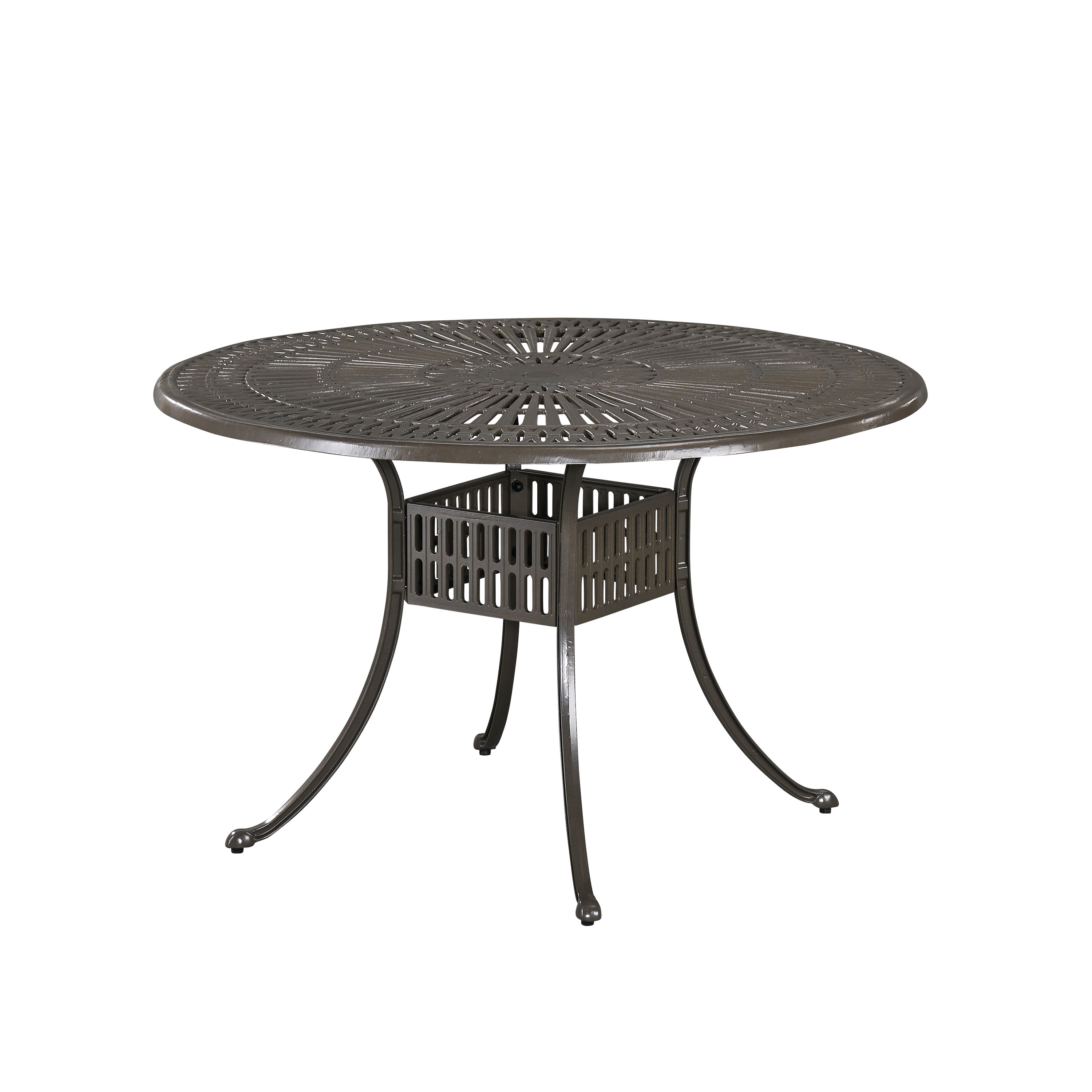 Home Styles Largo 48 Inch Round Outdoor Dining Table