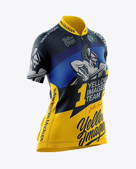 Download Womens Cycling Jersey Mockup Half Side View (PSD) Download ...