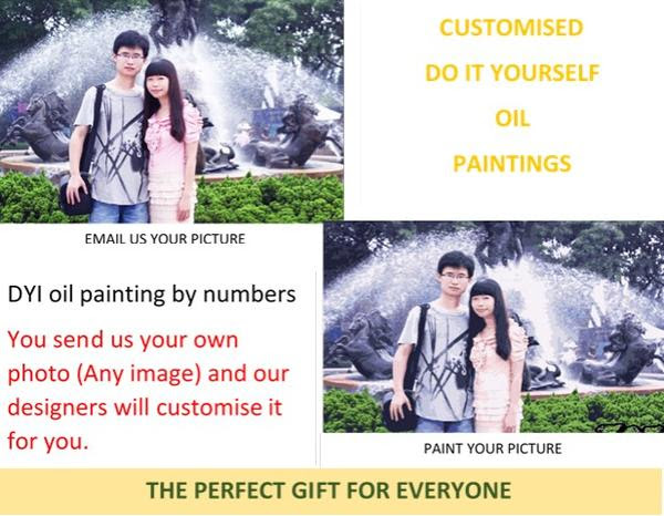 Paint By Numbers Custom Photo Paint By Number Kits Gifts Actually Gifts Actually