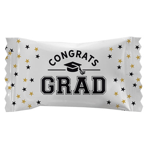 Congrats Grad Wrapped White Buttermints Bag Of 110 All City Candy