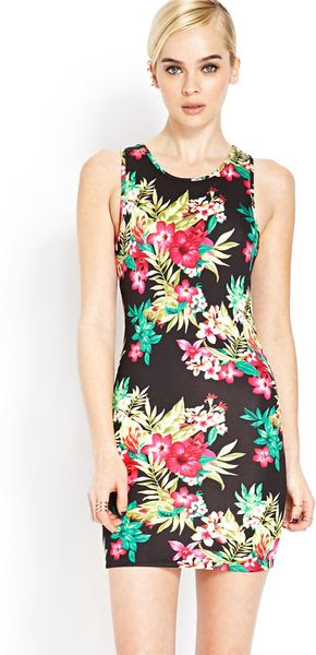 For women floral bodycon dress forever 21 grey india