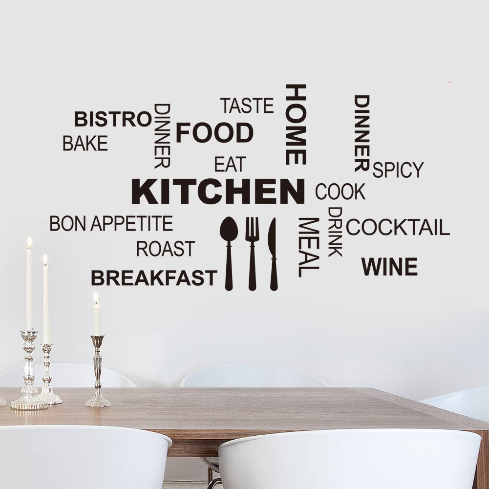 Kitchen Letter Removable Vinyl Wall Stickers Mural Decal