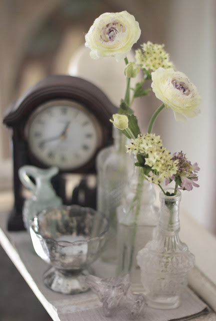 Artificial flowers arrangement - the 1st lot in day light