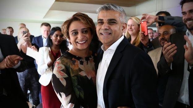 رئيس بلدية لندن الجديد وزوجته سعدية خان