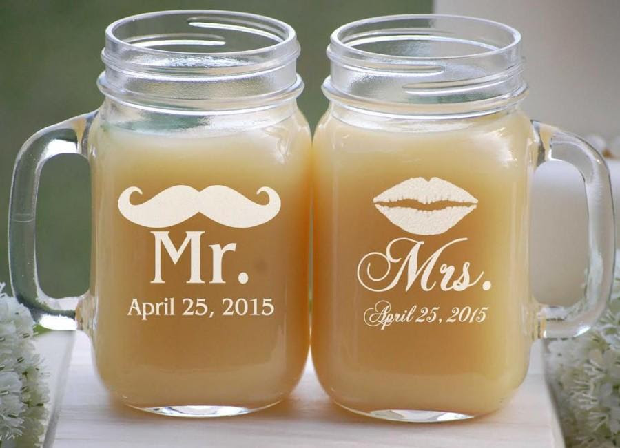 Mason Jar Wedding Favors Etched Mason Jars Wedding Mason Jar