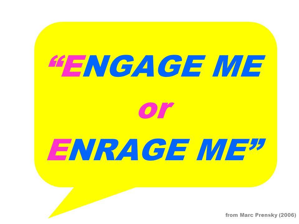 Image result for marc prensky engage me or enrage me