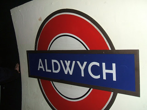 Aldwych Station Sign
