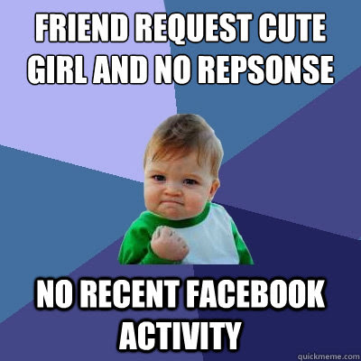 Friend Request Cute Girl And No Repsonse No Recent Facebook Activity