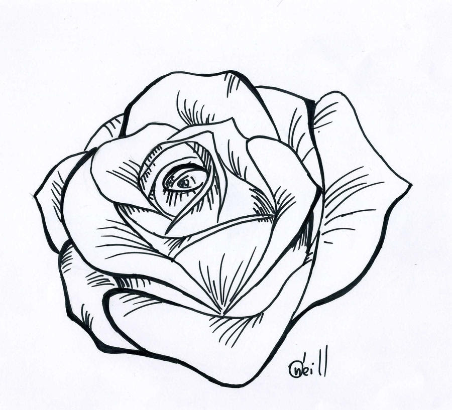 Rose Tattoo Stencil Designs