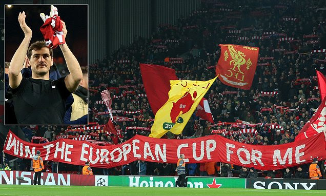 Iker Casillas thanks Liverpool fans for giving him ovation