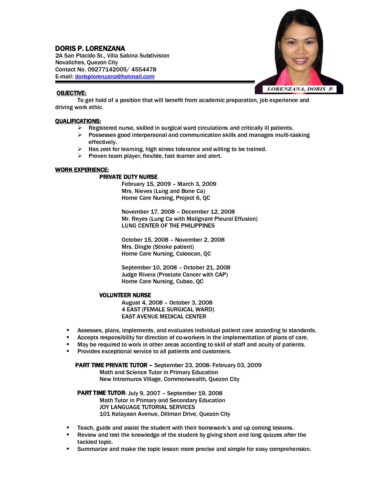23 Sample Letter Of Application For Fresh Graduate Nurses Nurses