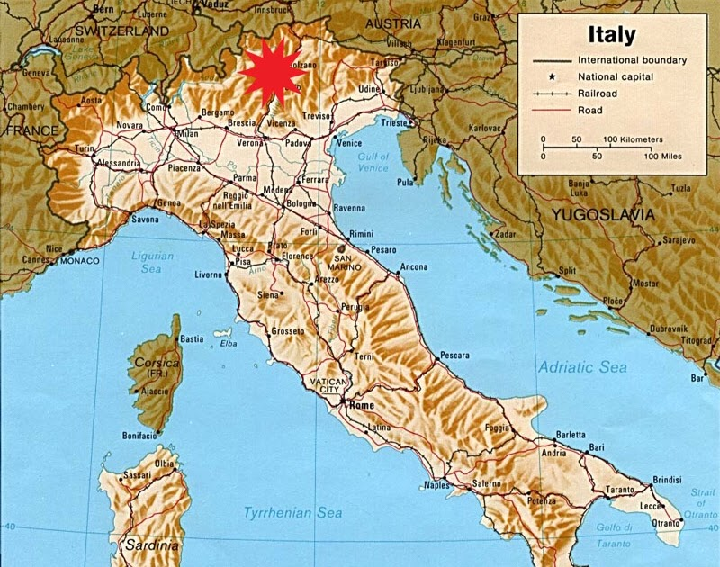 Where Are The Dolomites In Italy Map   Zip Code Map