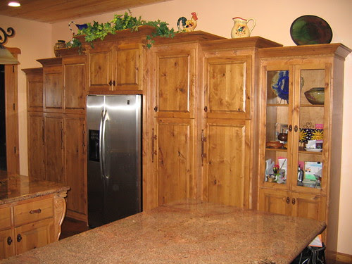 Inexpensive yet authentic knotty pine cabinet's ...