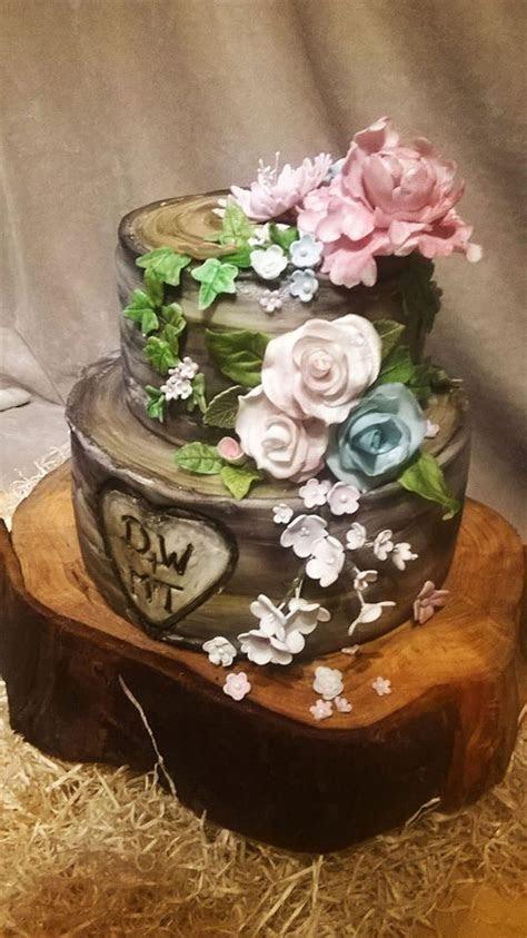 Silver Birch Wedding Cake   CakeCentral.com