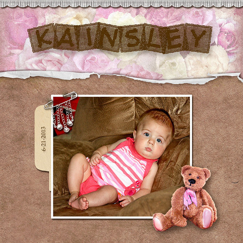 A 2nd layout to test photoshop...it's not working perfectly, cause it hangs a little here or there...but it's not as bad as it was, and the mini bridge is working!  This is my little great-niece!  Kits from blushbutter.com.