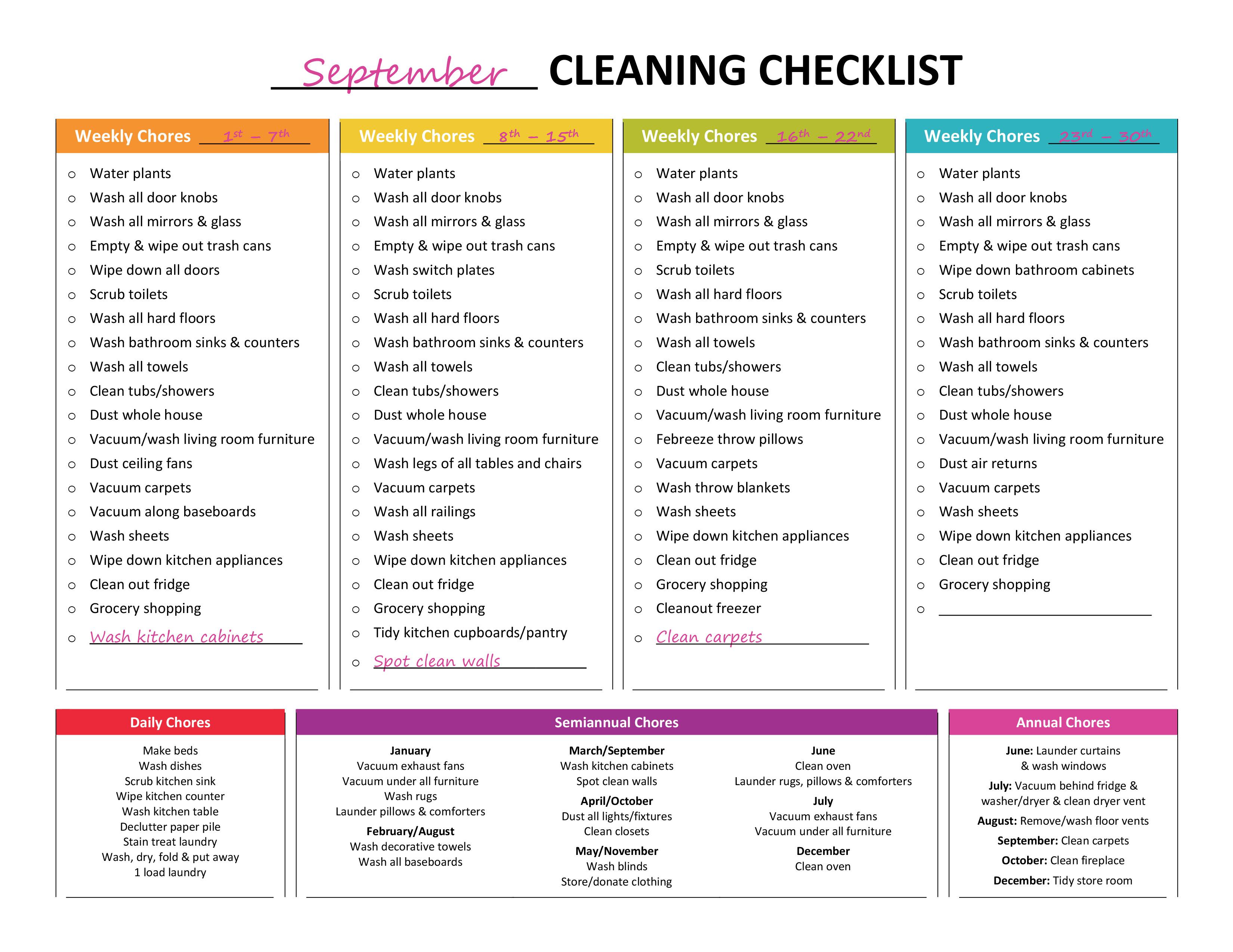Complete Housekeeping Printable Set! | Gone Like Rainbows