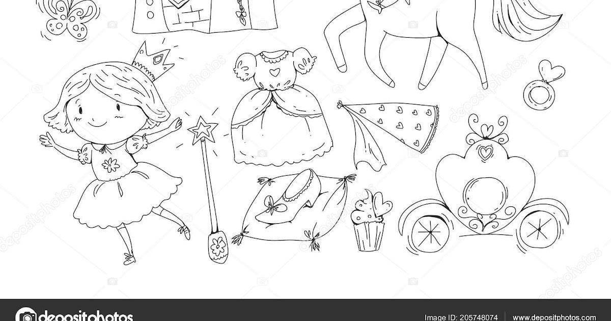 unicornio e princesa para colorir  imagen para colorear