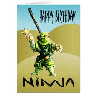 Ninja Happy Birthday Greeting Cards