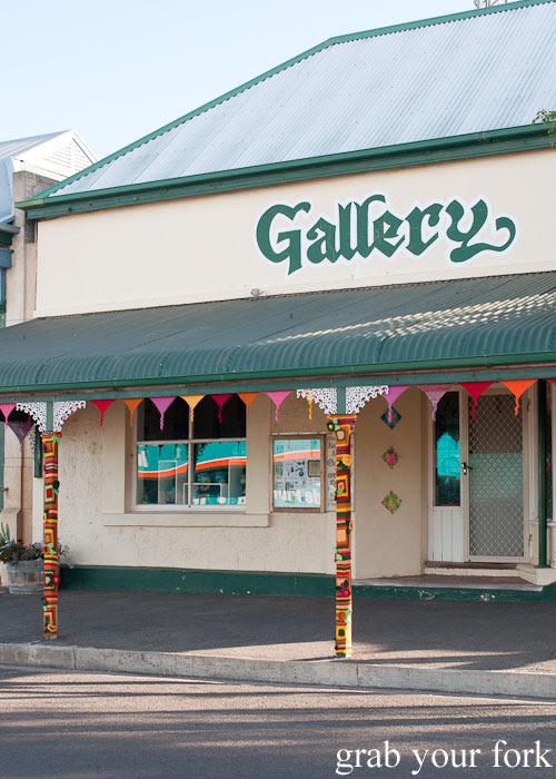 Yarn bombed art gallery, Kingscote, Kangaroo Island