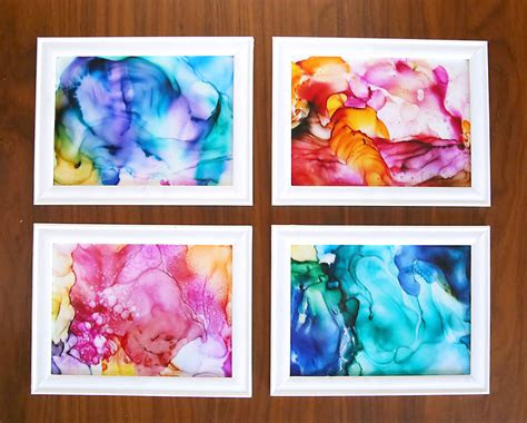 fired ink art easy craft  kids adults