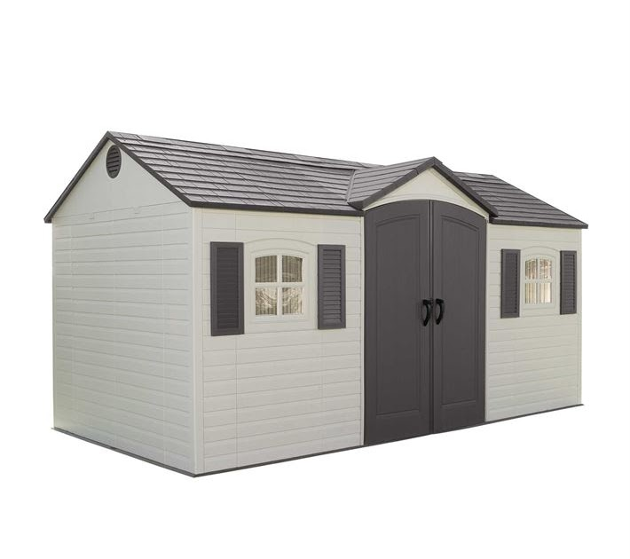 Heartland stratford 12 ft x 8 ft saltbox wood storage shed for Saltbox storage shed