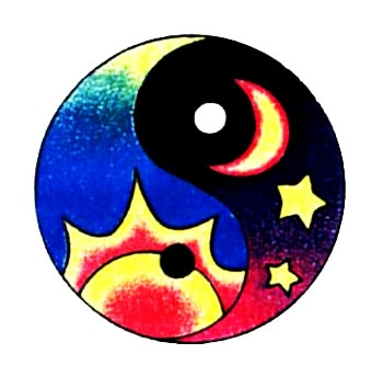 Sun Moon And Stars Yin Yang Tattoo Design