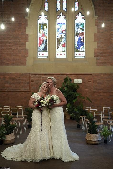 Melbourne same sex brides officially marry at midnight