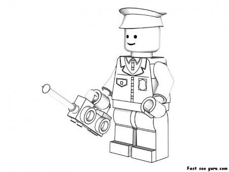 printable lego policeman coloring pages  free printable
