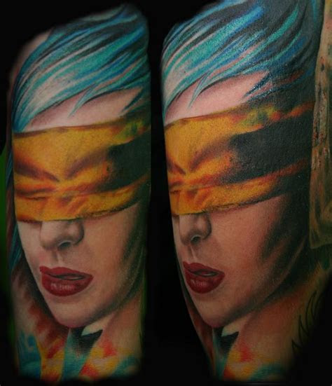 american tattoo tattoos portrait blindfold